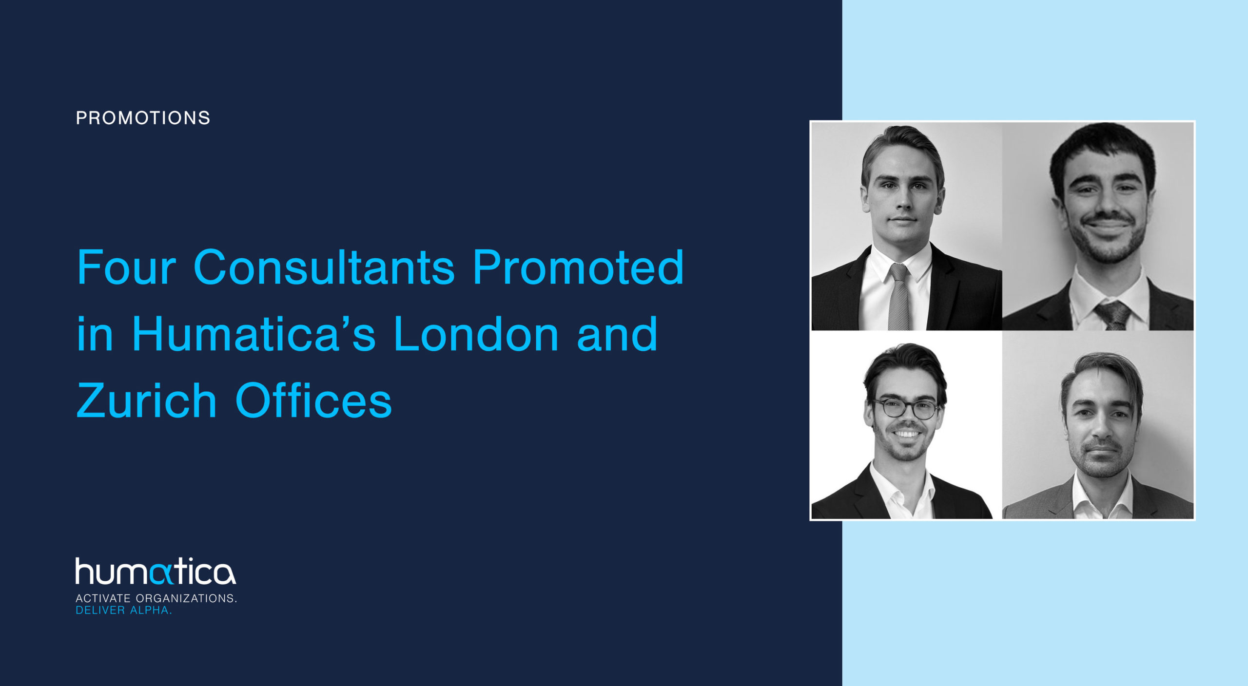 Four Consultants Promoted in Humatica's London and Zurich Offices
